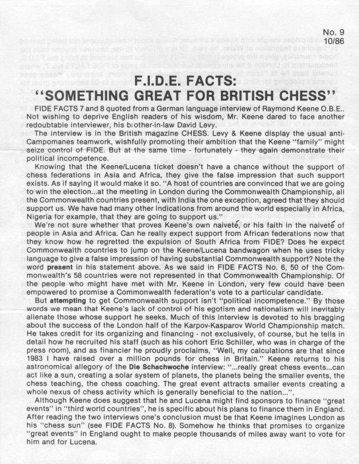 the fide presidential election by edward winter fide facts