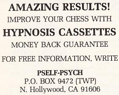 Chess and Hypnosis by Edward Winter