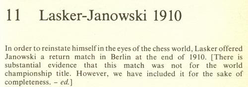 lasker janowsky