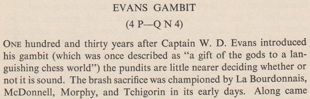 evans gambit