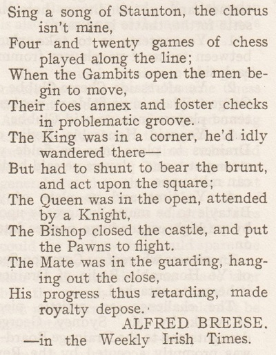 Chess and Poetry by Edward Winter
