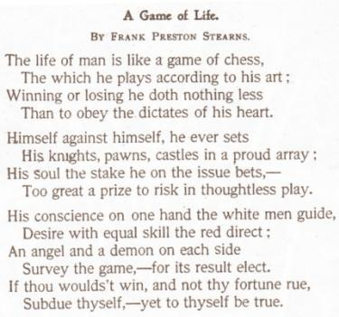 life is like a game of chess essay Life is a game this is your strategy guide 682k shares share on facebook share on twitter there are some fun mini-games – like dancing, driving, running.