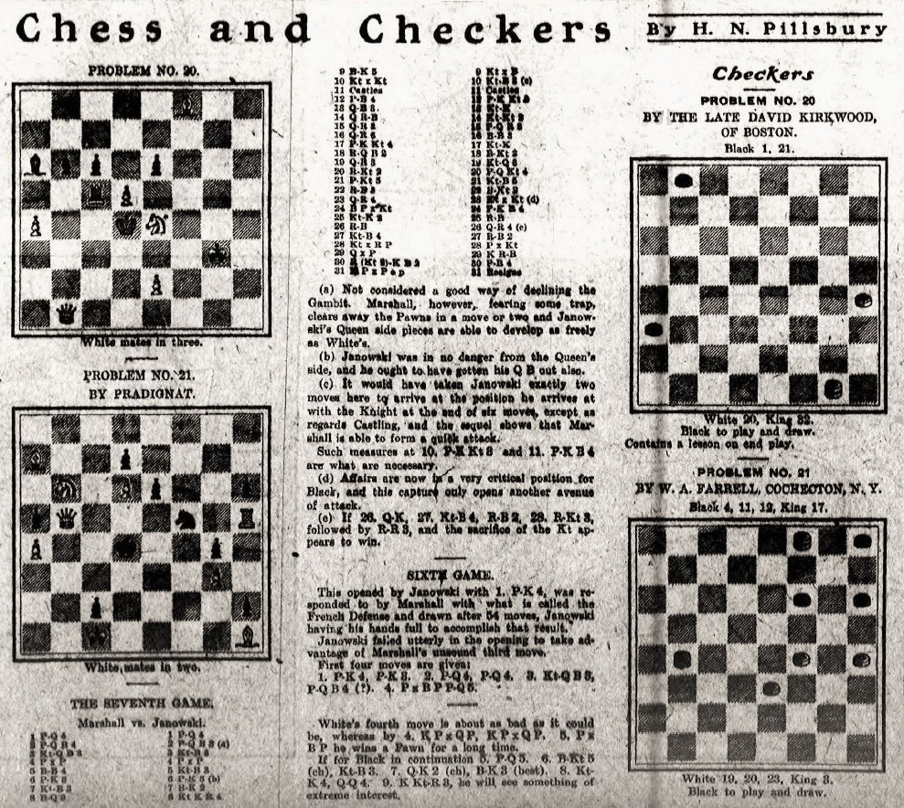 Chess Notes By Edward Winter Move Checkmate Diagram Furthermore Moves In Addition The Event Larger Version