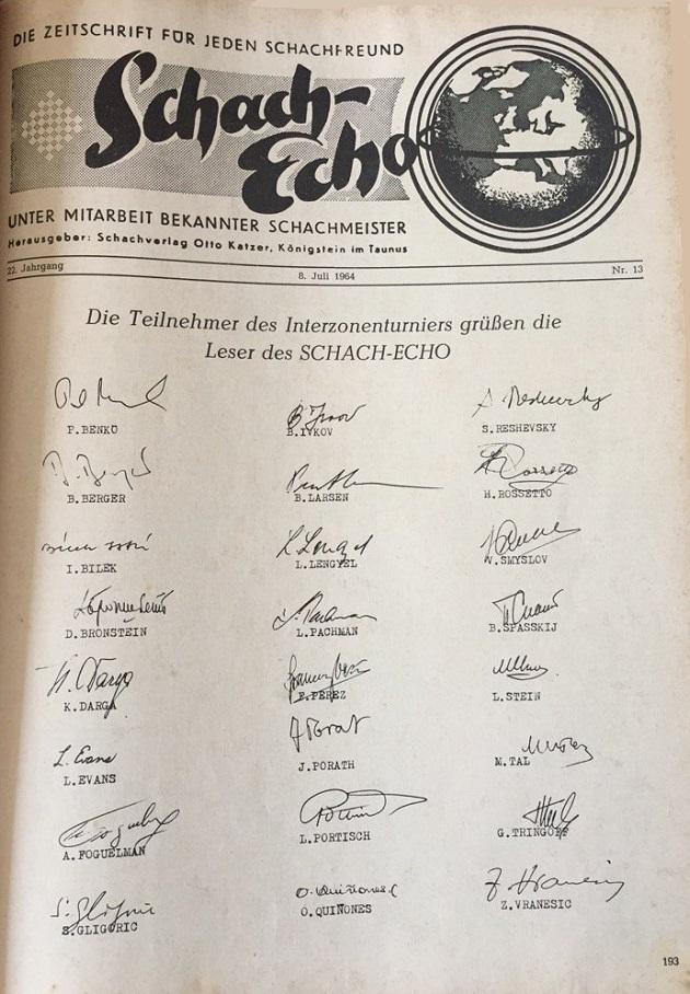 schach echo autographs